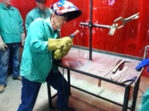 Steve Rottman the welding instructor for the SORTC Non-Certified Welding Class.