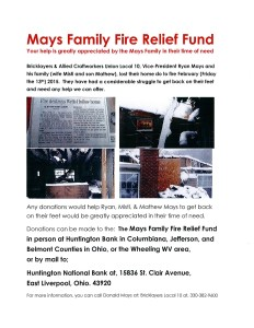 Mays Fire Relief Fund