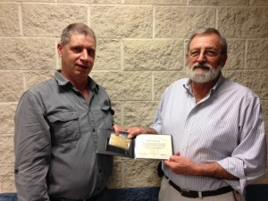 Congratulations to Michael Bednarczuk, former Director of the Southern Ohio Administrative District Council from April 2001 - September 2007 on receiving his 50 year gold card.  Pictured here on the left is Local 44 President Mark Mitchell presenting Michael with his gold card.  Thank you for your many years of service Michael!!