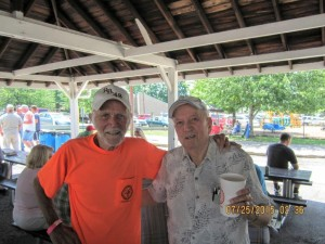 Pictured on the right is Brother William Smith at the Local 18 picnic.