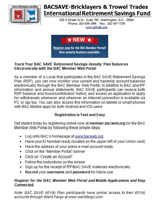RSP Web Portal Flyer