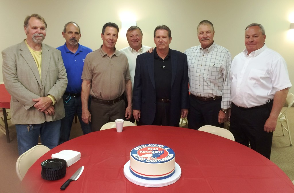 From left to right:  Ted Linscott, Flory Fernandez, Vince Isaac, Dan Zavagno, Fred Hubbard, Mac Mellert & Steve Shively.
