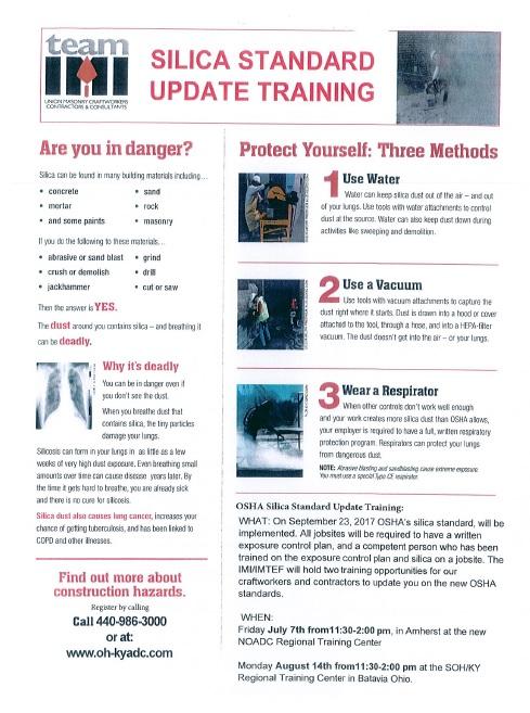 Silica Training